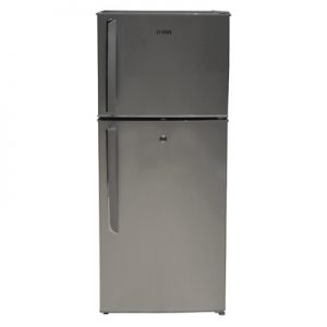 Mika Refrigerator 118L Direct Cool Double Door Silver Brush